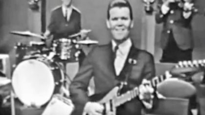 Footage Of 26-Year-Old Glen Campbell Shredding On The Guitar Surfaces