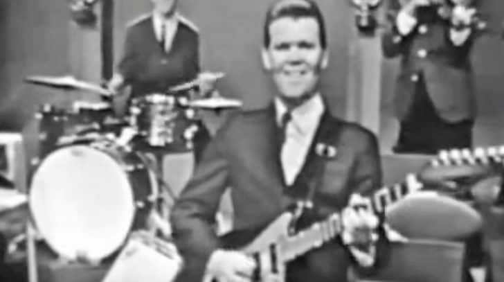 Footage Of 26-Year-Old Glen Campbell Shredding On The Guitar Surfaces | Country Music Nation