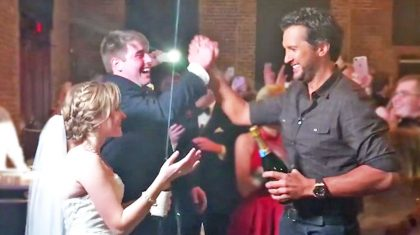 Luke Bryan Crashes Georgia Wedding & Gives Newlyweds Surprise Of A Lifetime