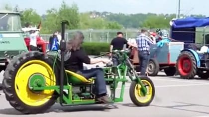 See John Deere Tractor Turned Bad Ass Chopper