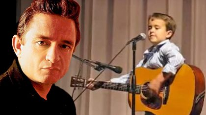 Explosively Talented Second-Grader Shocks Crowd With Insane Johnny Cash Performance