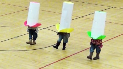 Little Cowboys, Huge Hats! 3 Students Give Hysterical Dance To 'Elvira'