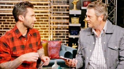 Blake Shelton And Adam Levine Find Out Their Albums Are Released On The Same Day