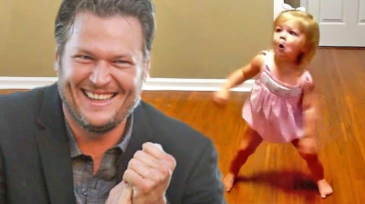 Too Cute: Little Girl Hears Her Favorite Blake Shelton Song And Can't Help But Dance | Country Music Nation