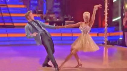 Kellie Pickler & Derek Hough Kick Up Their Heels In Spunky 'Footloose' Dance