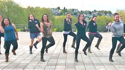 Boot Boogie Babes Show Their Sassy Sides In Sizzlin' Line Dance To Hit Country Duet
