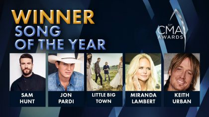 2017 CMA Award For Song of the Year Announced