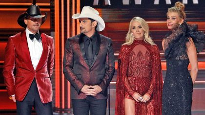 Tim & Faith Crash The CMA Awards Monologue To Finally Get Back At Brad & Carrie
