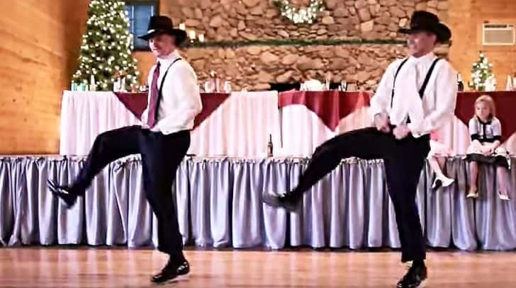 Cowboys Thrill Wedding Guests With Epic '8 Seconds' Dance | Country Music Nation