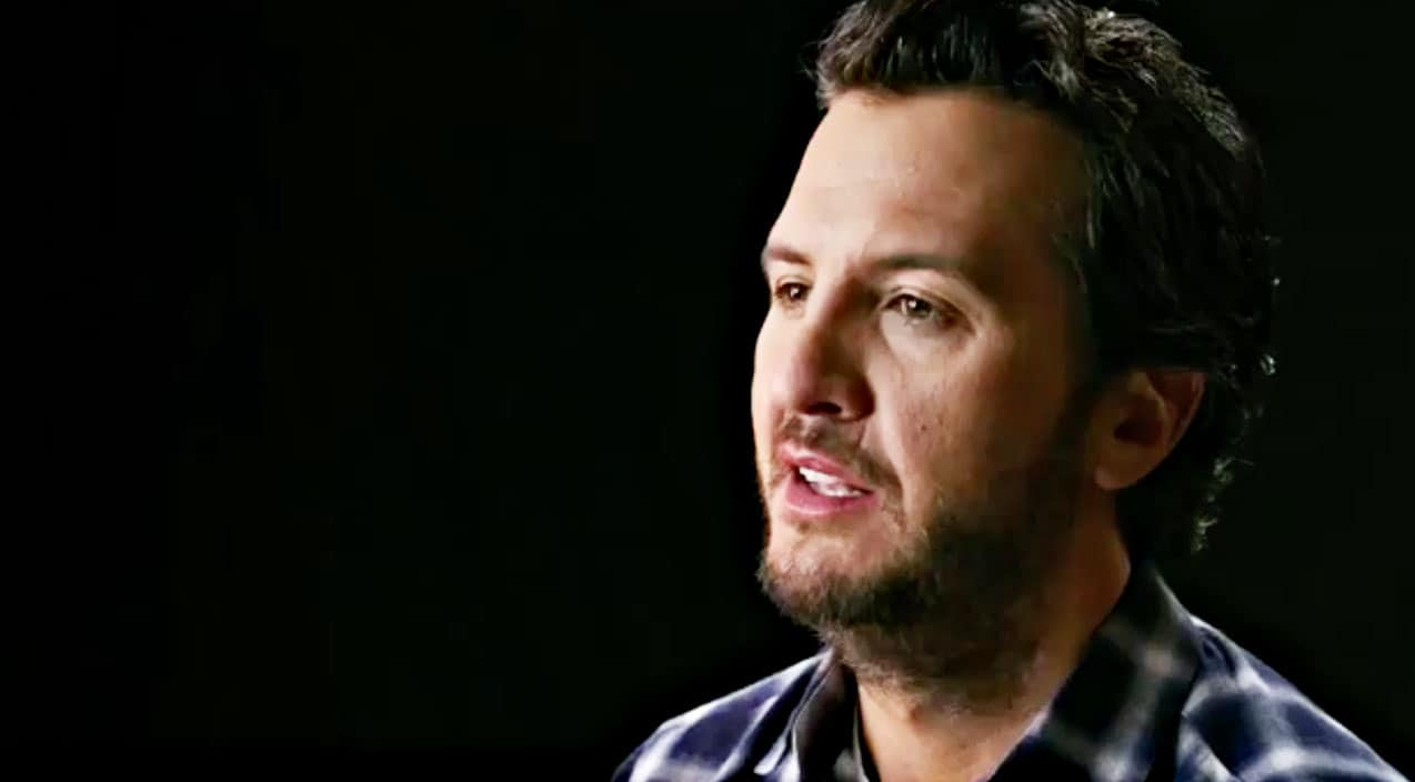 Luke bryan brought to tears by wife s christmas gift for How did luke bryan s sister and brother die