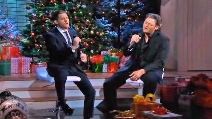 Blake Shelton Joins Michael Bublé For Moving Christmas Duet In Tribute To The Troops