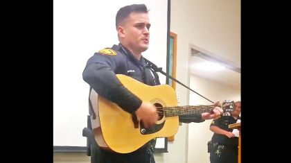 Texas Cop Stuns Fellow Officers With Unexpected Johnny Cash Cover