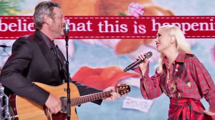 Blake Shelton & Gwen Stefani Can't Keep Their Eyes Off Each Other In Lovey-Dovey Duet