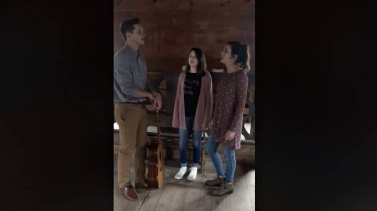 Sibling trio sings stirring a cappella easter hymn in abandoned church country music nation - Homes in old churches ...