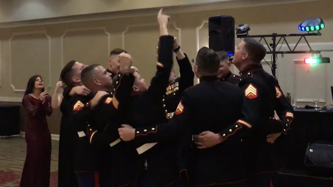 Marines Standing Arm In Arm Singing 'God Bless The USA' Will Have