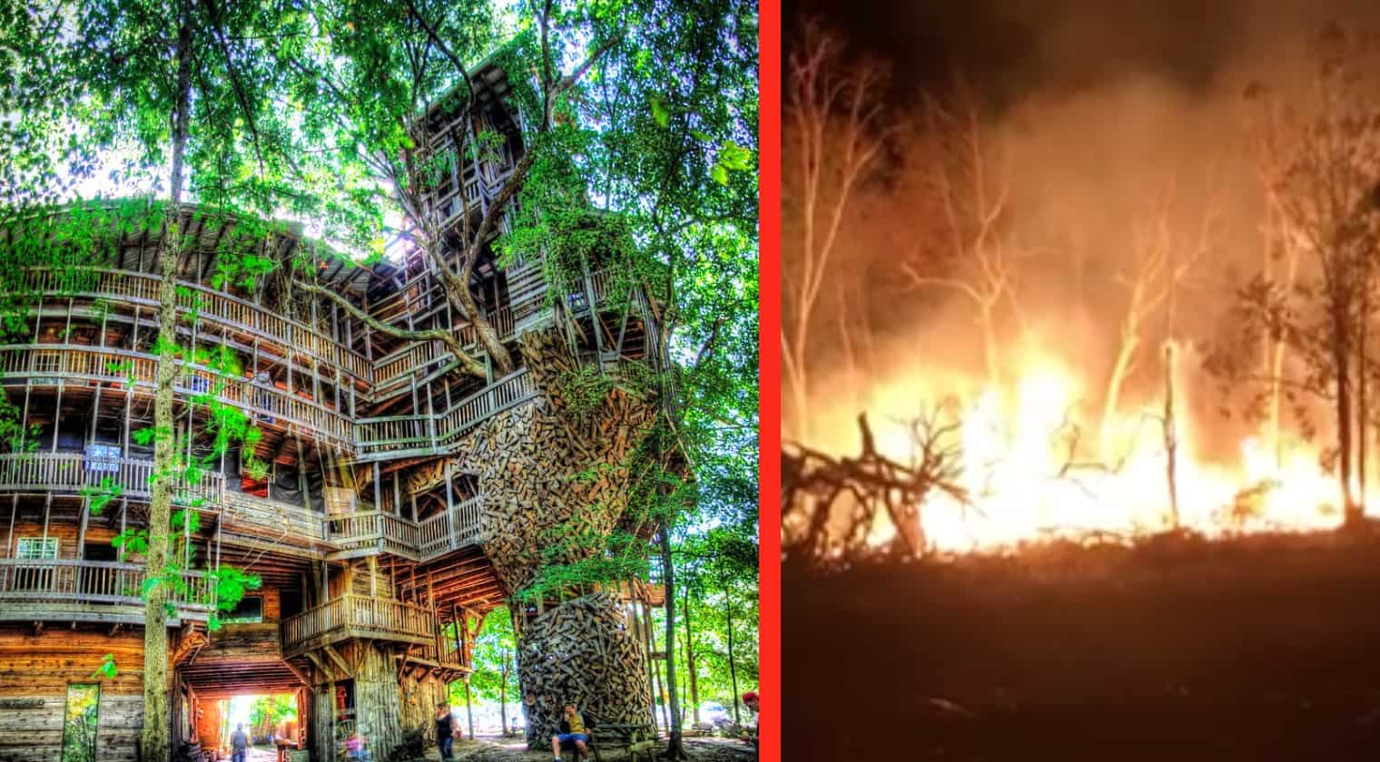 Picture of: Tennessee World S Largest Treehouse Burns Down Country Music Nation